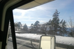 Lake Vättern .. great view .. still some snow besides the road