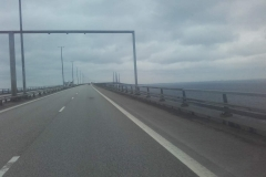 Leaving Sweden .. bridge to Denmark